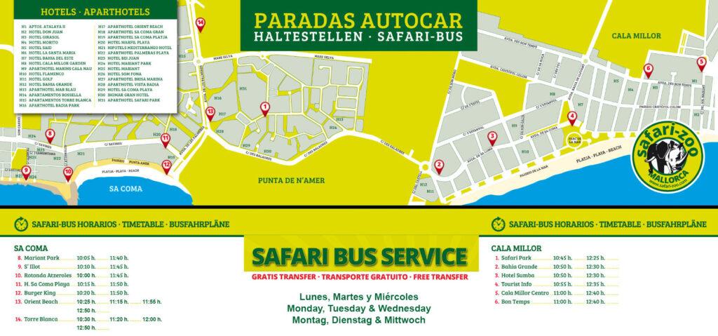 Safari Zoo Fahrplan